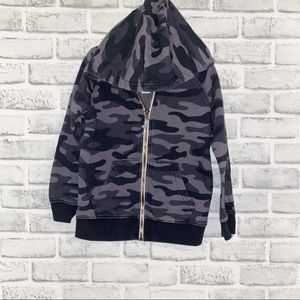 Carters: Boys Camouflage Zip up Sweater